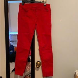 American eagle size 6 red denim jeggings stretch